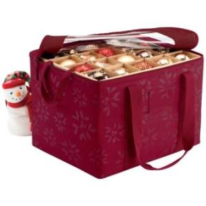 Ornament storage bag in cranberry